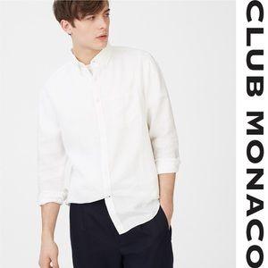 Men's Club Monaco Slim Linen Shirt